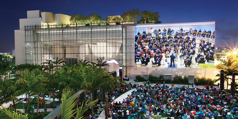 Wallcast Concerts Park Events At New World Center New World Symphony