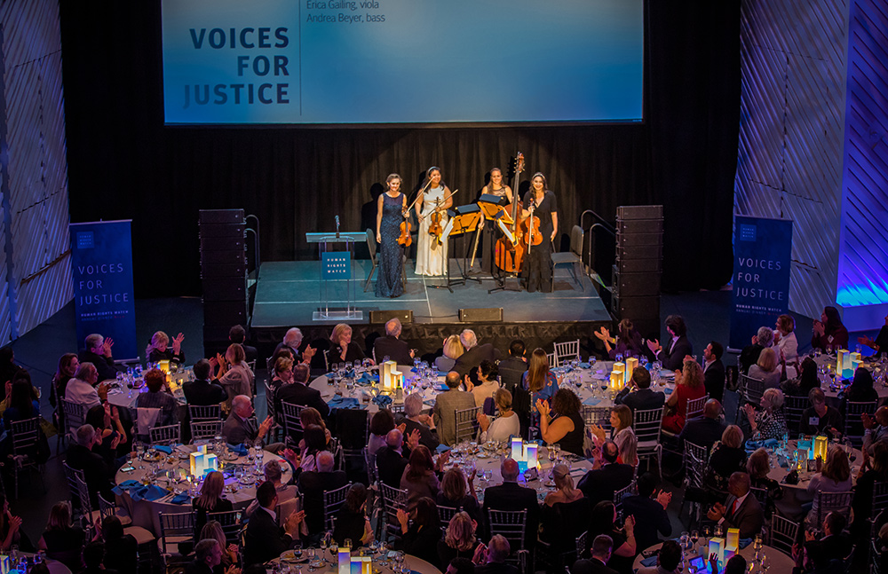 NWS Fellows perform at Human Rights Watch Gala