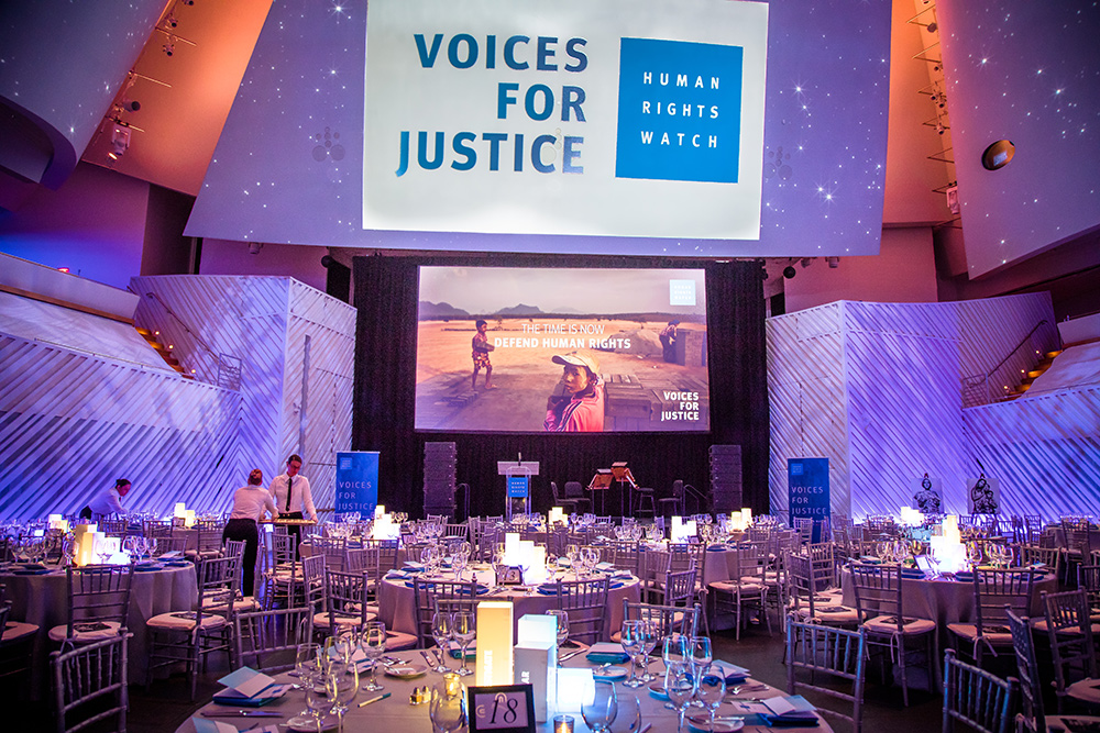 Voices for Justice Human Rights Watch gala
