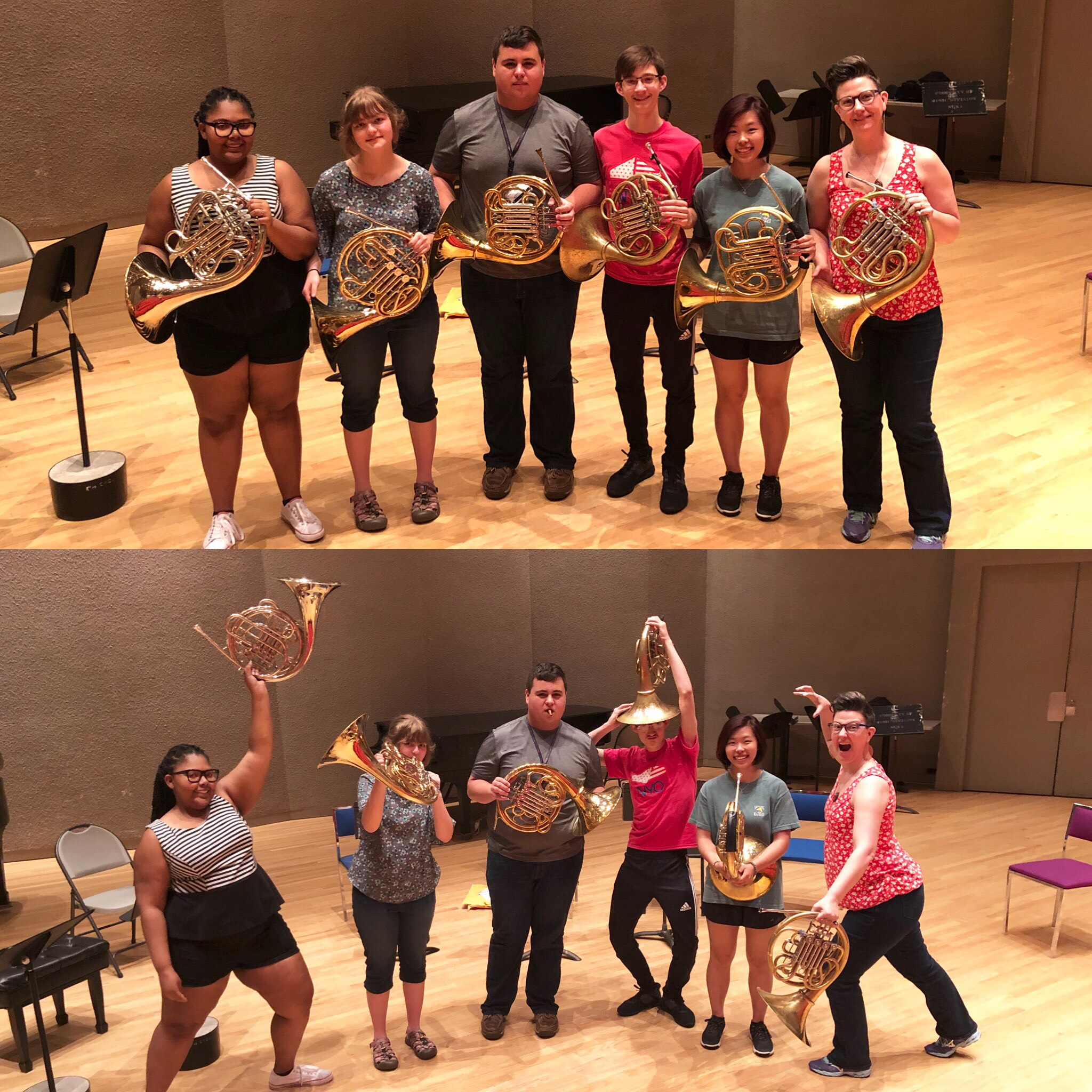 NYO2 horns with Denise Tryon
