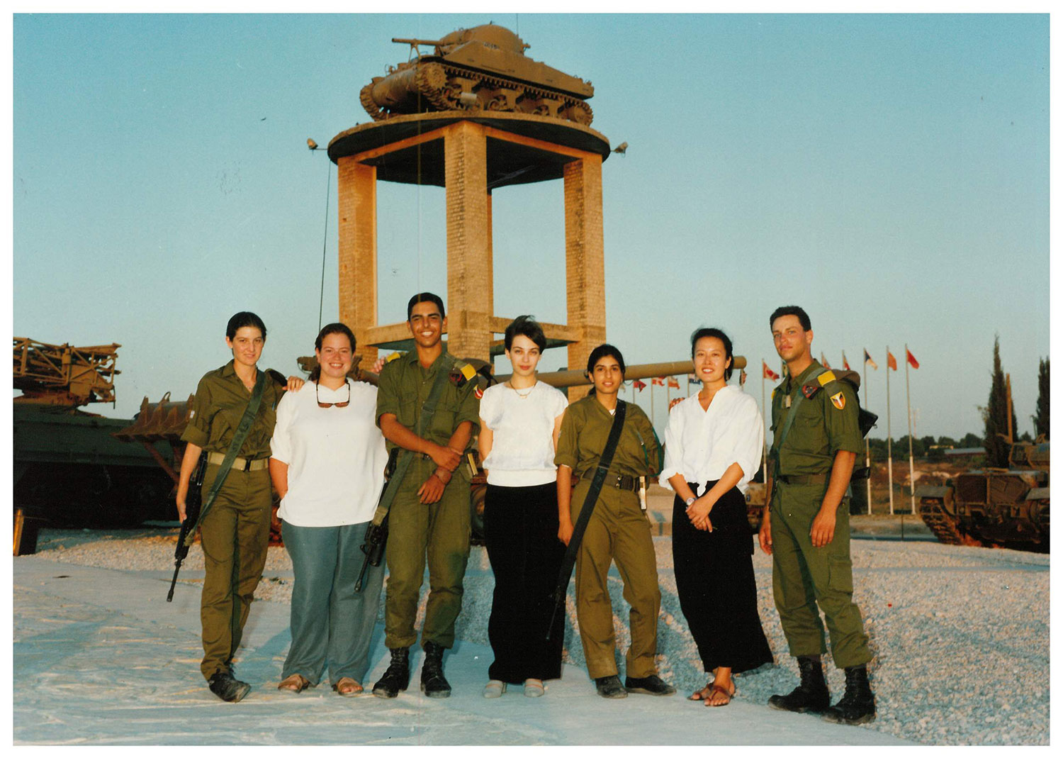 NWS Fellows with Latrun Soldiers