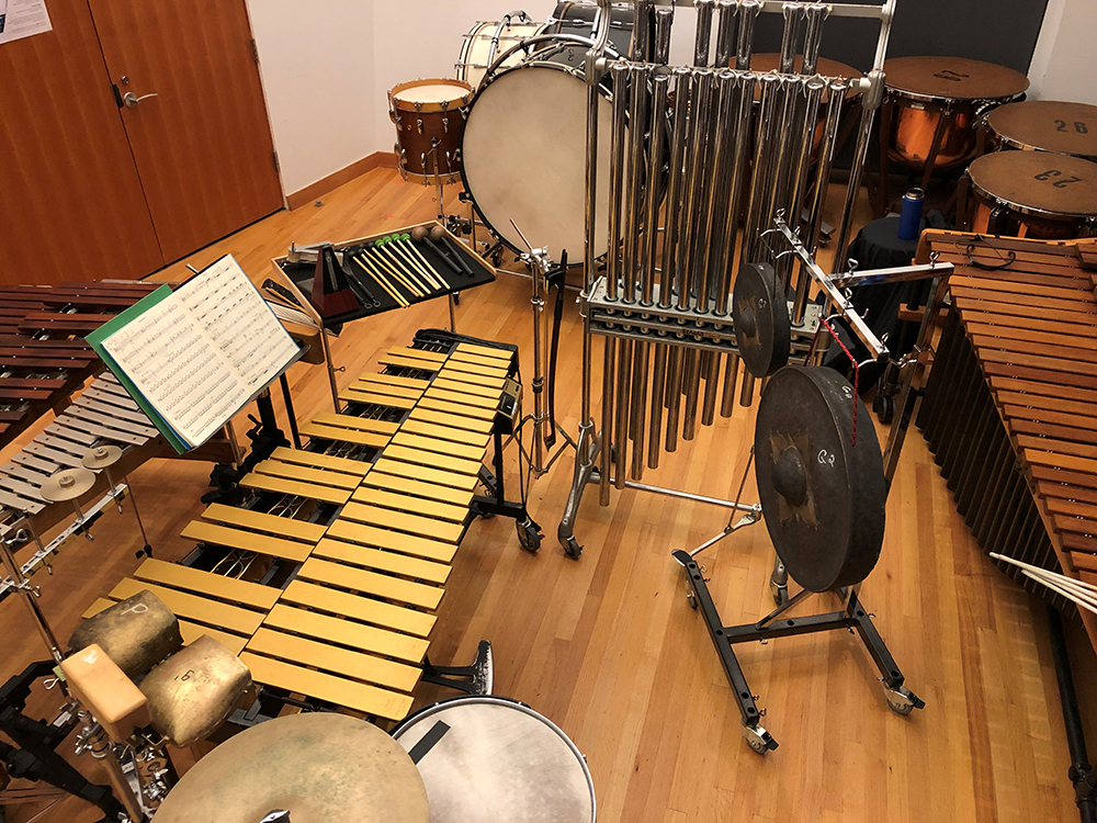 Percussion setup
