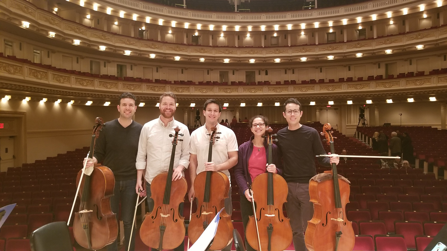 Cellow Fellows on Carnegie Hall stage