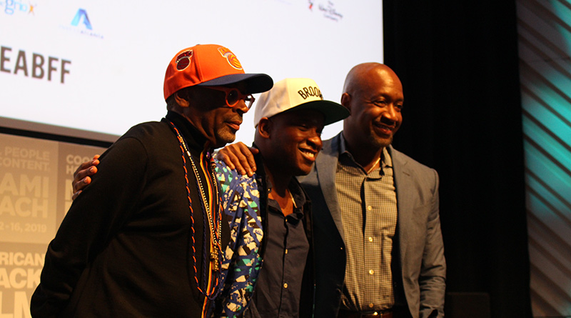 Spike Lee, Stefon Bristol and Jeff Friday