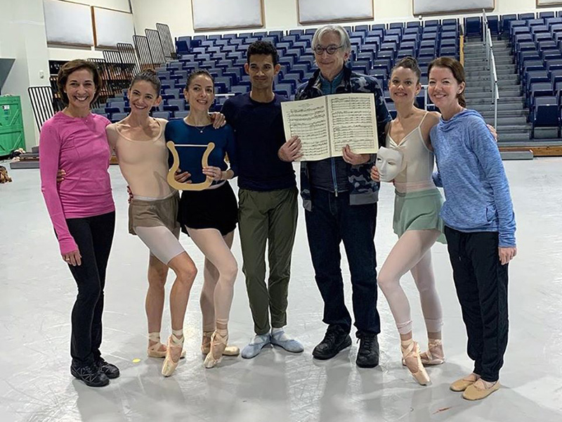 MTT and Lourdes Lopez with dancers from Miami City Ballet