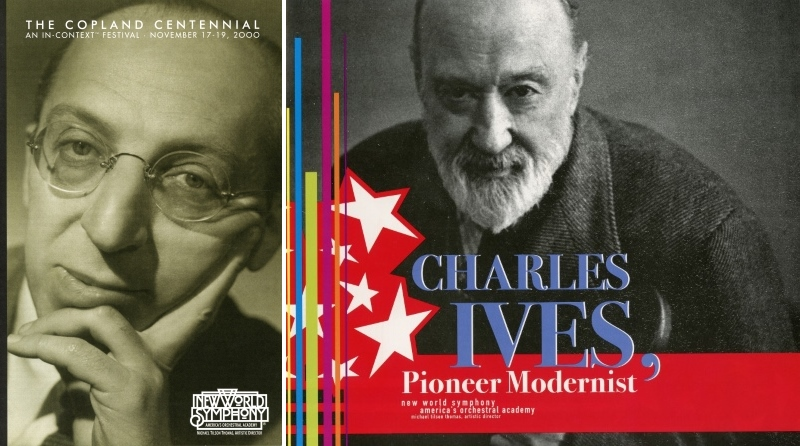 Copland Festival and Ives Festival program books