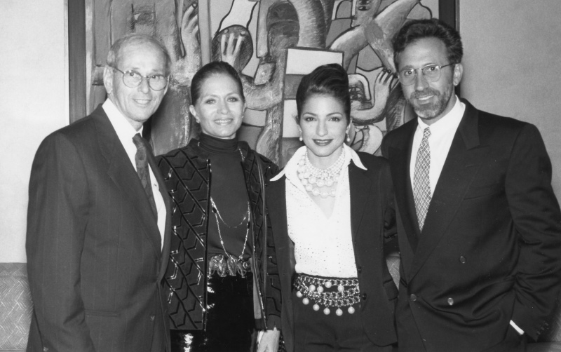 Sherwood & Judy Weiser, Gloria & Emilio Estefan, March 1992