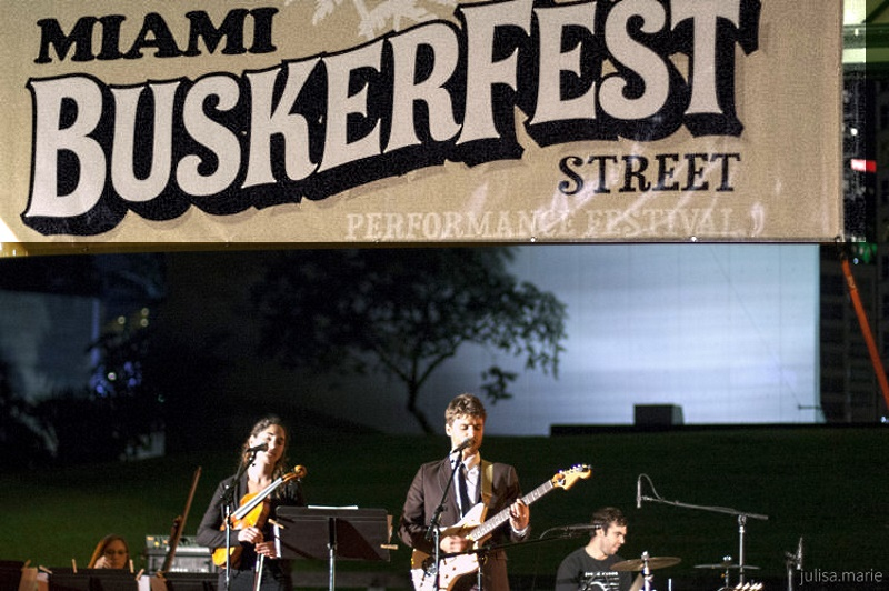 NWS-based group The Alt-Default performs at 2014 Buskerfest